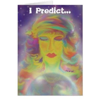 Cartão de aniversário aciganado da previsão