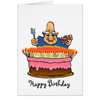 Cartão de aniversário adulto engraçado