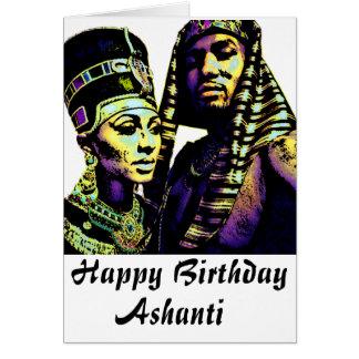 Cartão de aniversário africano do rei Rainha