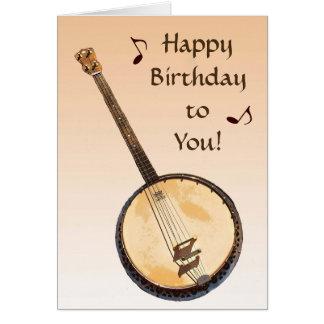 Cartão de aniversário alaranjado do instrumento