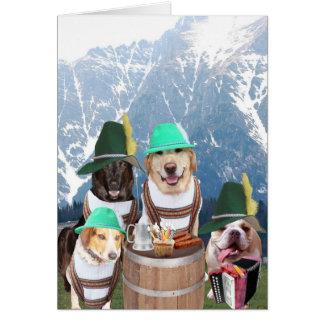 Cartão de aniversário alemão dos cães engraçados