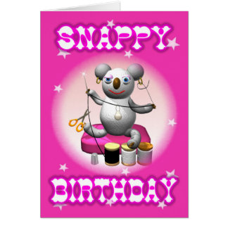 Cartão de aniversário áspero do Koala dos desenhos