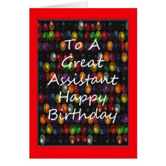 Cartão de aniversário assistente do professor