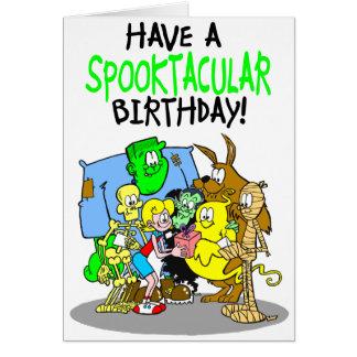 Cartão de aniversário assustador para meninas