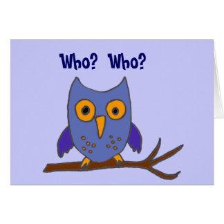 Cartão de aniversário BC- engraçado da coruja