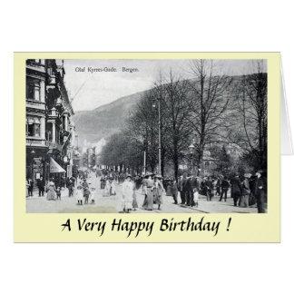 Cartão de aniversário - Bergen, Noruega