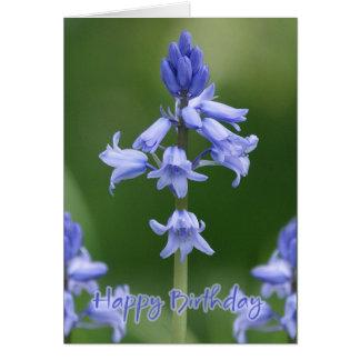 Cartão de aniversário - Bluebells