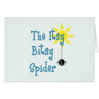 Cartão de aniversário bonito da aranha de Itsy