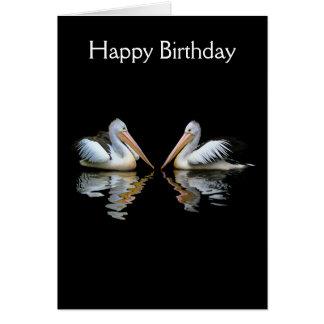 Cartão de aniversário bonito da foto do pássaro