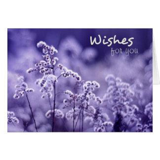 Cartão de aniversário bonito dos desejos