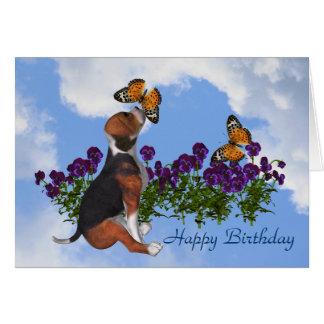 Cartão de aniversário bonito dos Pansies das