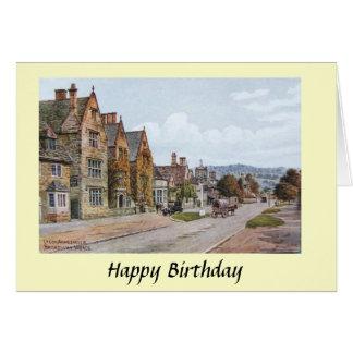 Cartão de aniversário - Broadway, Worcestershire