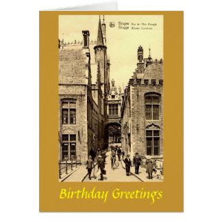 Cartão de aniversário - Bruges, Bélgica