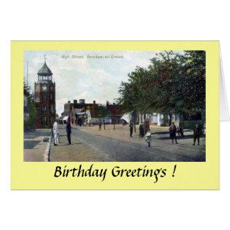 Cartão de aniversário - Burnham-em-Agacha-se,