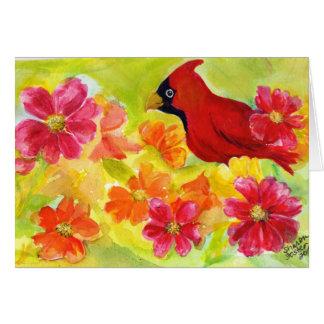 Cartão de aniversário cardinal