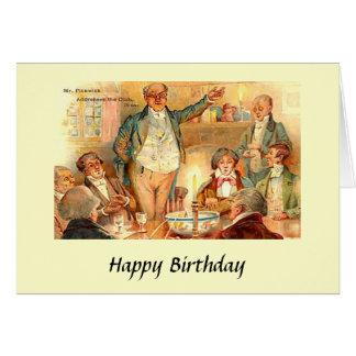Cartão de aniversário - Charles Dickens, de