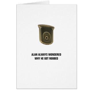 Cartão de aniversário chave de Alan