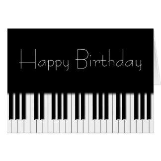 Cartão de aniversário - chaves de teclado do piano