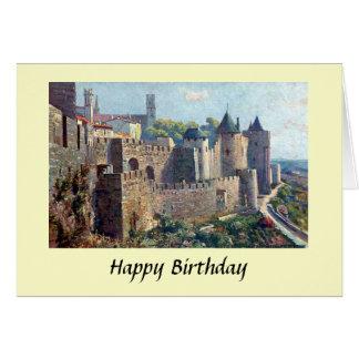 Cartão de aniversário - Cité de Carcassonne,