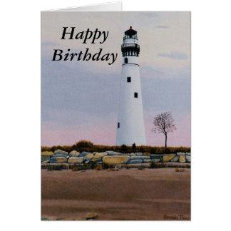 Cartão de aniversário claro da noite
