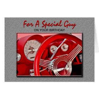 Cartão de aniversário clássico do carro