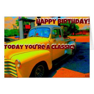 Cartão de aniversário clássico do feliz
