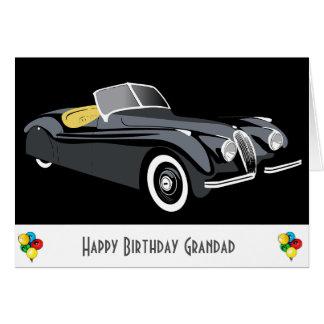 Cartão de aniversário clássico do Grandad do carro