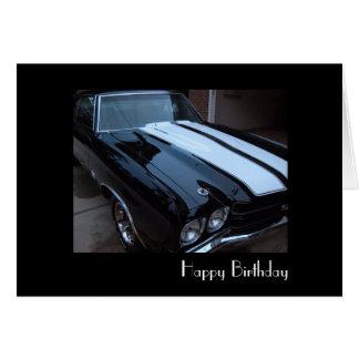 Cartão de aniversário clássico do músculo