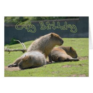 Cartão de aniversário com Capybara
