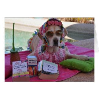 Cartão de aniversário com foto do cão