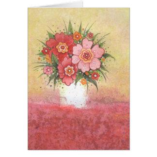 Cartão de aniversário com ramalhete