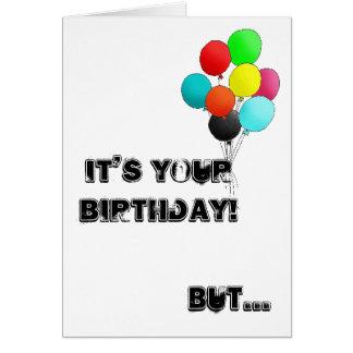 cartão de aniversário com texugo de mel