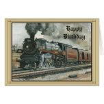 Cartão de aniversário com trem