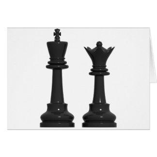 Cartão de aniversário cómico do rei e da rainha da