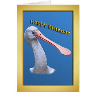 Cartão de aniversário cómico do Spoonbill
