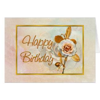 Cartão de aniversário cor-de-rosa bonito