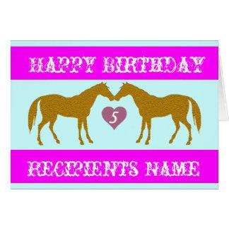 Cartão de aniversário cor-de-rosa da idade do