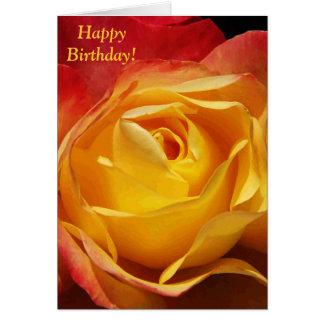 Cartão de aniversário cor-de-rosa da laranja