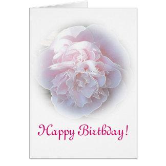 Cartão de aniversário cor-de-rosa de Camelia