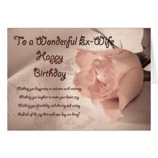 Cartão de aniversário cor-de-rosa elegante para a