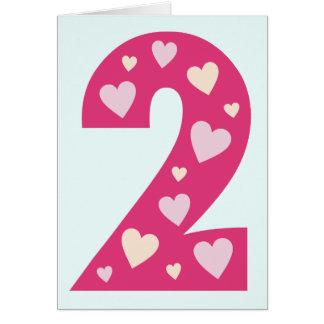 Cartão de aniversário cor-de-rosa feliz do número