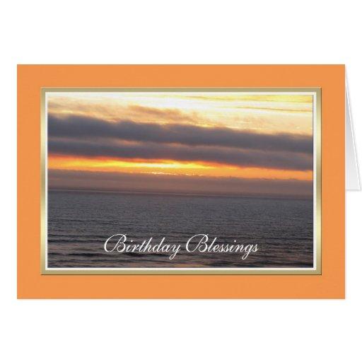 Cartão de aniversário cristão -- Bênção cristã