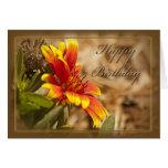 Cartão de aniversário cristão floral