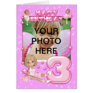 Cartão de aniversário customizável da foto do aniv