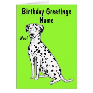 Cartão de aniversário customizável do cão