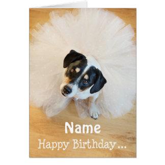 Cartão de aniversário customizável do divertimento