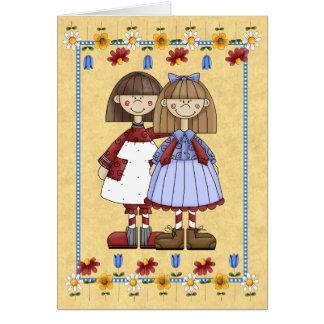 Cartão de aniversário da amizade da irmã