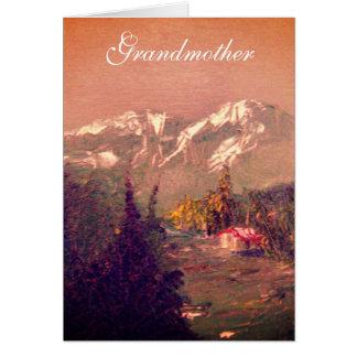 Cartão de aniversário da avó