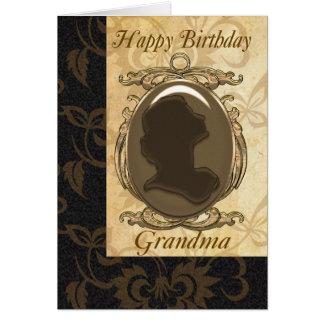 Cartão de aniversário da avó com cameo