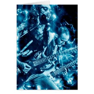 Cartão de aniversário da banda do metal pesado do